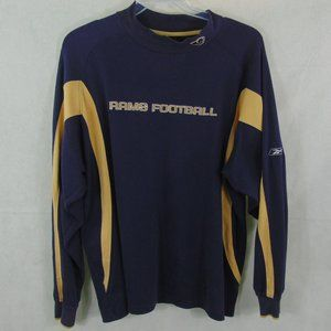 VTG Rams NFL Football Long Sleeve T-Shirt Men's L